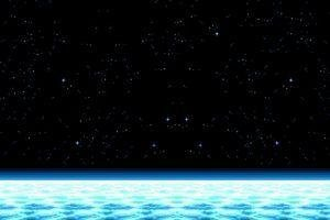 space, Pixel Art, Horizon, Stars