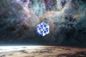 space, Nebula, Planet, Logo, Optical Illusion