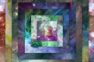 space, Nebula, Colorful, Square