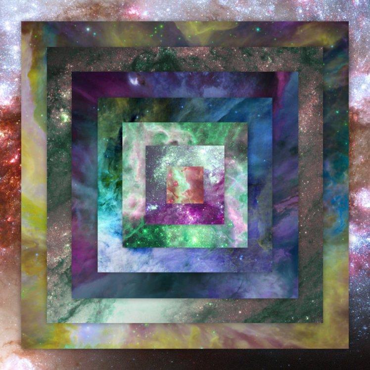 space, Nebula, Colorful, Square HD Wallpaper Desktop Background