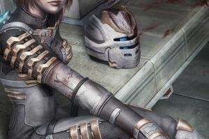 Dead Space, Blood, Isaac Clarke, Genderbend