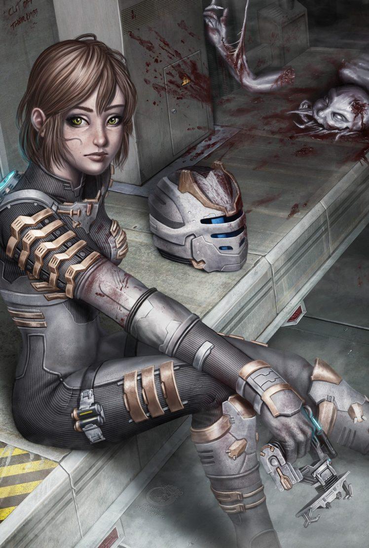 Dead Space, Blood, Isaac Clarke, Genderbend HD Wallpaper Desktop Background