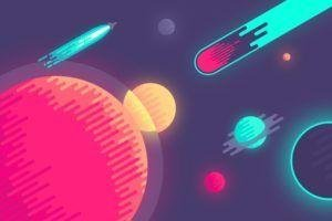 Abduzeedo, 8 bit, Space