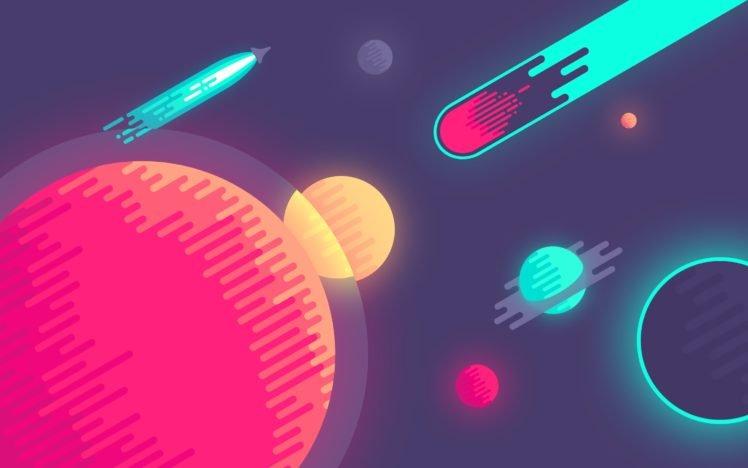 Abduzeedo, 8 bit, Space HD Wallpaper Desktop Background