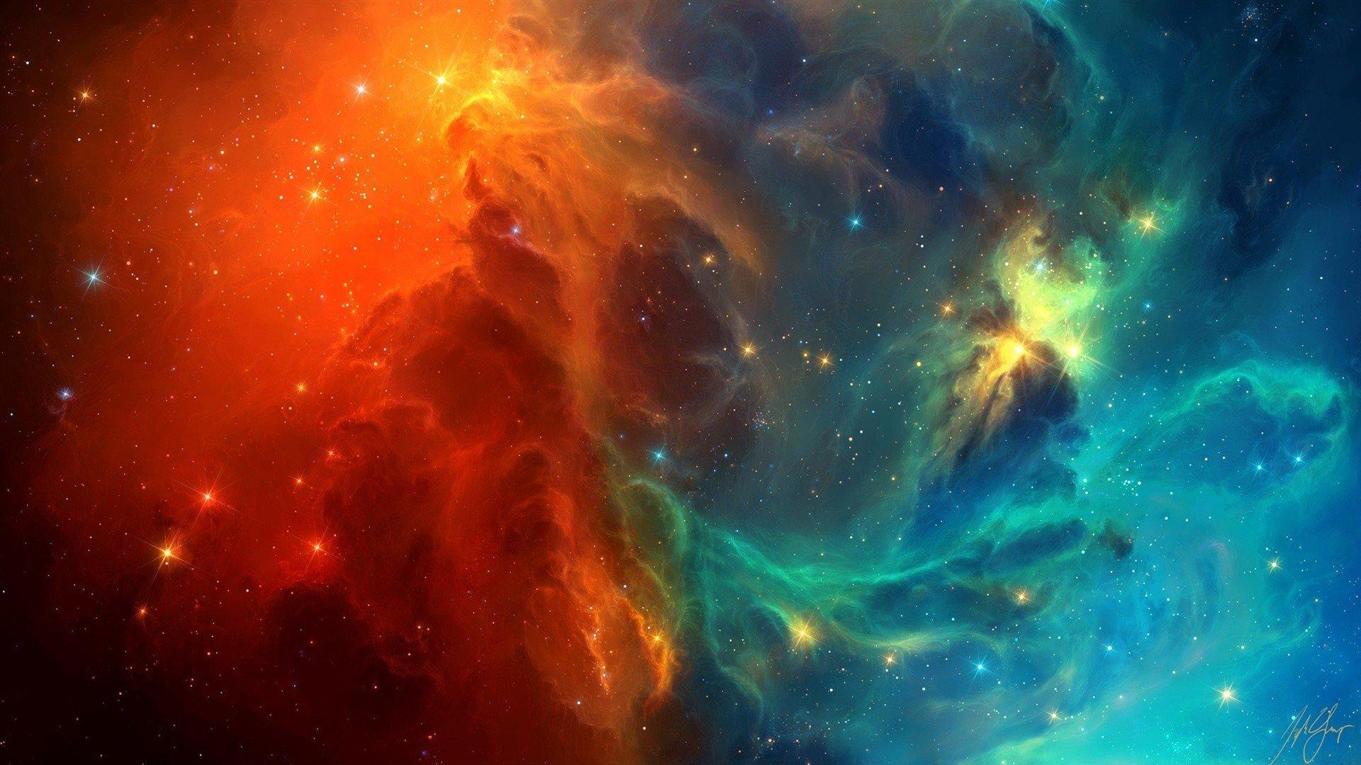 TylerCreatesWorlds, Space, Space Art, Nebula, Stars ...