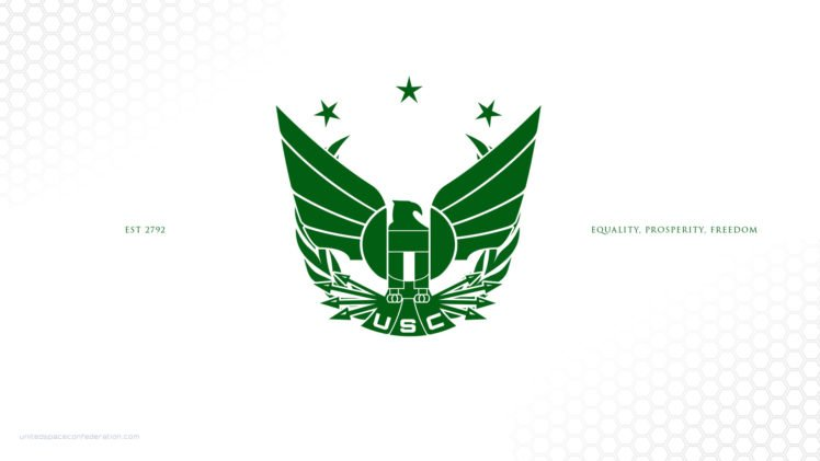 Star Citizen, United Space Confederation, Simple Background HD Wallpaper Desktop Background