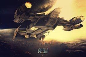 Star Citizen, Cutlass, Robert Space Industries, Spaceship, Space