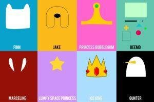 Adventure Time, Finn The Human, Jake The Dog, Princess Bubblegum, BMO, Marceline The Vampire Queen, Lumpy Space Princess, Ice King, Gunter
