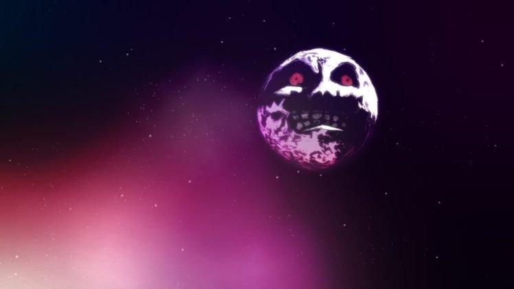 The Legend Of Zelda, The Legend Of Zelda: Majoras Mask, Moon, Space HD Wallpaper Desktop Background