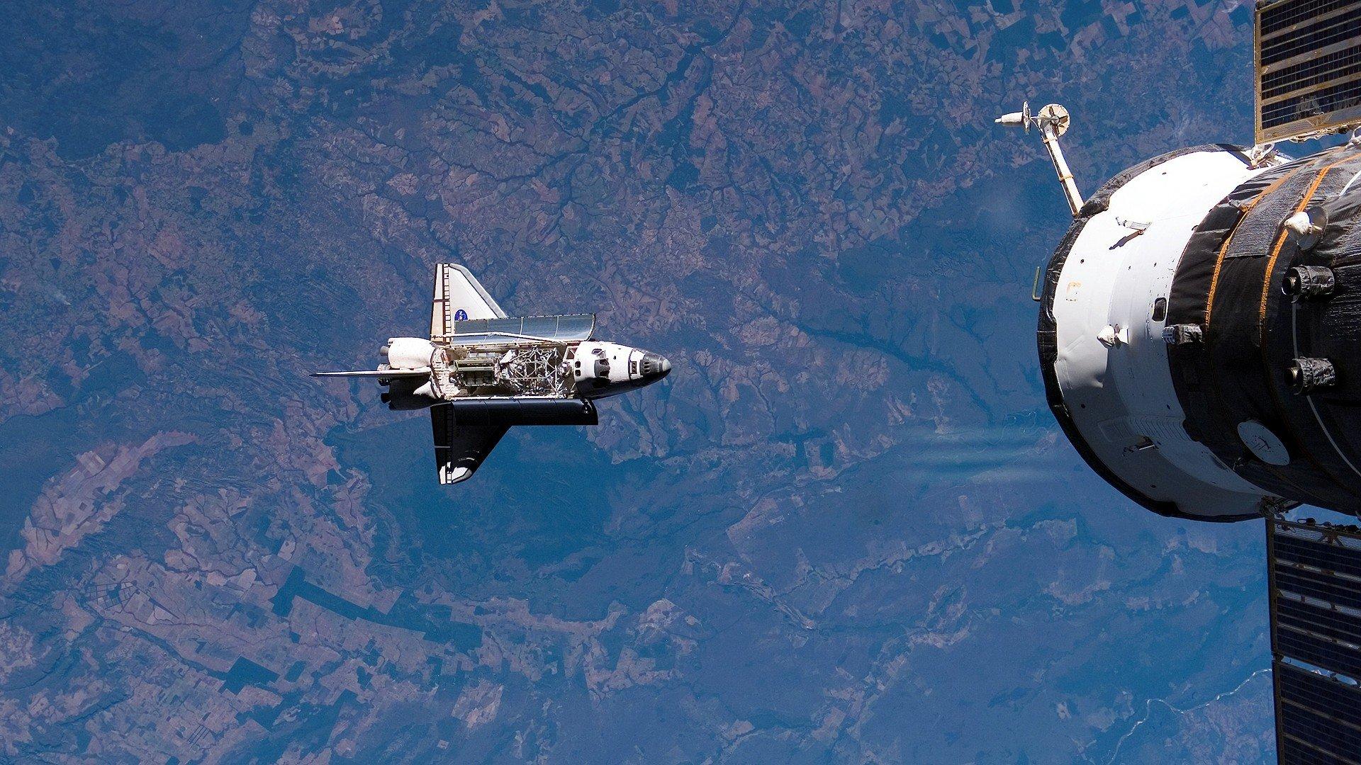 NASA, Space, Space Shuttle, Earth, Orbital Stations Wallpaper