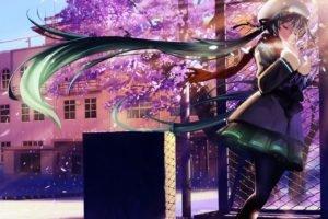 Vocaloid, Hatsune Miku, Cherry blossom
