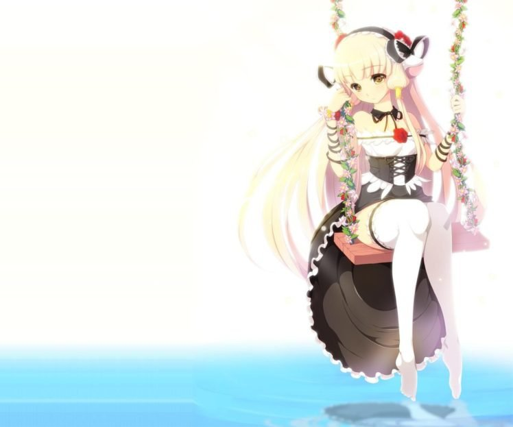 Chobits Anime Girls Flowers Thigh Highs Hd Wallpapers