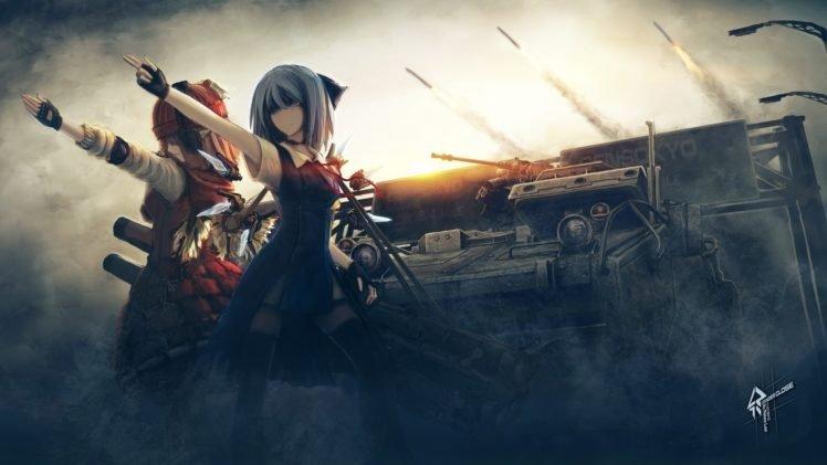 anime, Touhou, Cirno, Anime girls, Mystia Lorelei HD Wallpaper Desktop Background