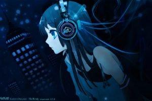 anime girls, Music, Headphones, Anime