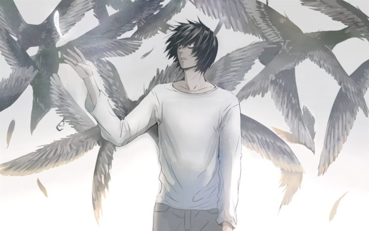 Death Note Raven Lawliet L HD Wallpaper Desktop Background