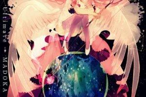 Mahou Shoujo Madoka Magica, Kaname Madoka, Wings, Anime, Anime girls