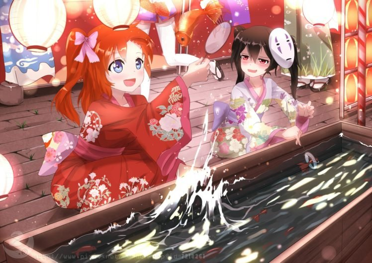 Spirited Away, Love Live!, Kousaka Honoka, Yazawa Nico HD Wallpaper Desktop Background