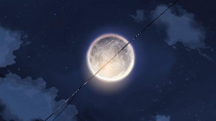moon, Anime, Neon Genesis Evangelion, Powerlevel HD Wallpaper Desktop Background