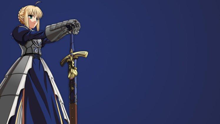 Saber, Fate Series, Excalibur HD Wallpaper Desktop Background
