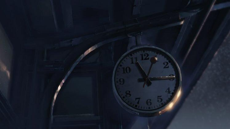 anime, Clocks, Building, 5 Centimeters Per Second HD Wallpaper Desktop Background