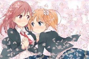 anime, Anime girls, Sakura Trick, Sonoda Yuu, Takayama Haruka, School uniform
