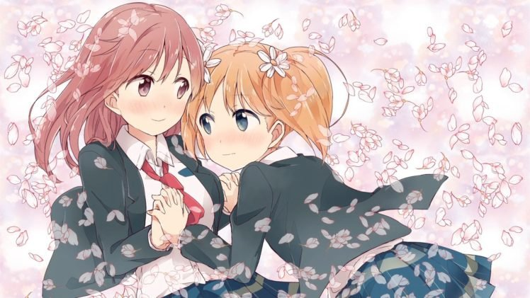 Anime Anime Girls Sakura Trick Sonoda Yuu Takayama