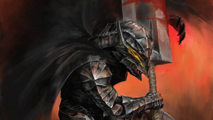 Berserk, Armor, Black, Kentaro Miura HD Wallpaper Desktop Background