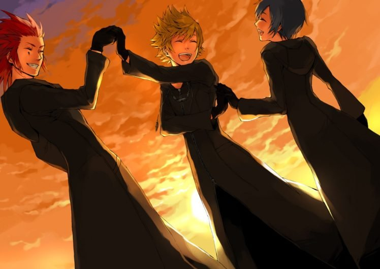 Kingdom Hearts, Organisation XIII, Roxas, Axel, Xion HD Wallpaper Desktop Background