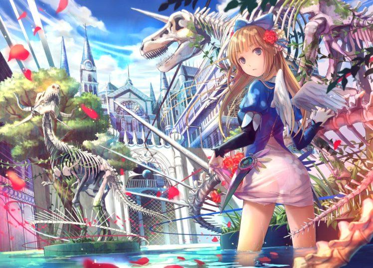 anime, Artwork, Anime girls, Wings, Original characters HD Wallpaper Desktop Background