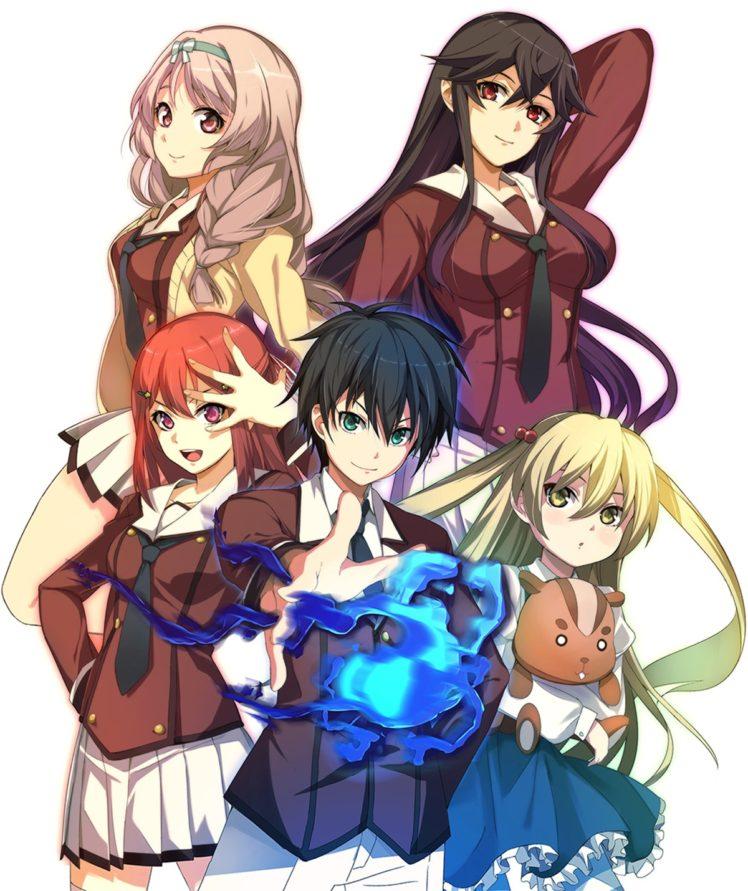 Inou Battle wa Nichijou kei no Naka de, Andou Jurai, Chifuyu Himeki, Tomoyo Kanzaki, Hatoko Kushikawa, Sayumi Takanashi, Anime HD Wallpaper Desktop Background
