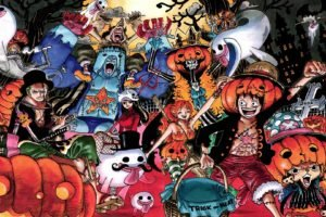 One Piece, Monkey D. Luffy, Tony Tony Chopper, Nami, Roronoa Zoro, Usopp, Sanji, Nico Robin, Ghost, Halloween