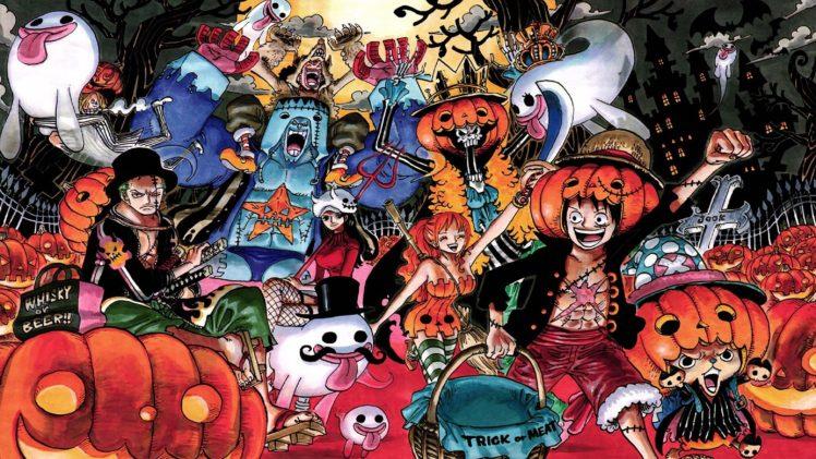 One Piece, Monkey D. Luffy, Tony Tony Chopper, Nami, Roronoa Zoro, Usopp, Sanji, Nico Robin, Ghost, Halloween HD Wallpaper Desktop Background