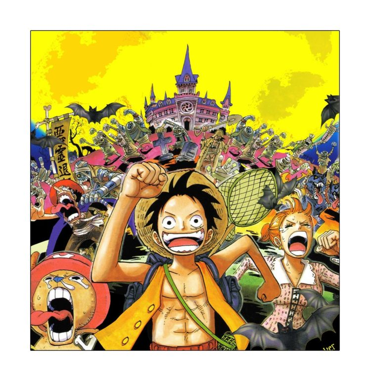 One Piece, Thriller bark, Monkey D. Luffy, Nami, Usopp, Tony Tony Chopper HD Wallpaper Desktop Background