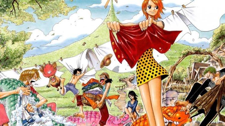 One Piece, Nami, Tony Tony Chopper, Usopp, Robin (character), Sanji, Roronoa Zoro HD Wallpaper Desktop Background