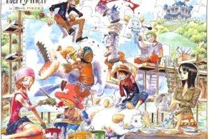 One Piece, Monkey D. Luffy, Sanji, Roronoa Zoro, Nico Robin, Tony Tony Chopper, Nami, Usopp