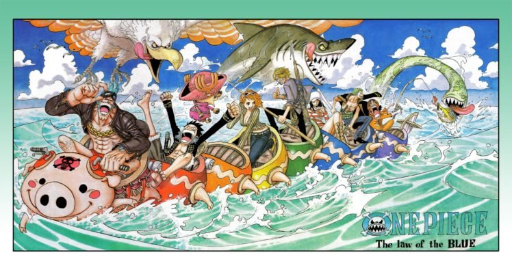 One Piece, Nami, Monkey D. Luffy, Frankie, Tony Tony Chopper, Sanji, Nico Robin, Roronoa Zoro, Usopp, Sea monsters HD Wallpaper Desktop Background