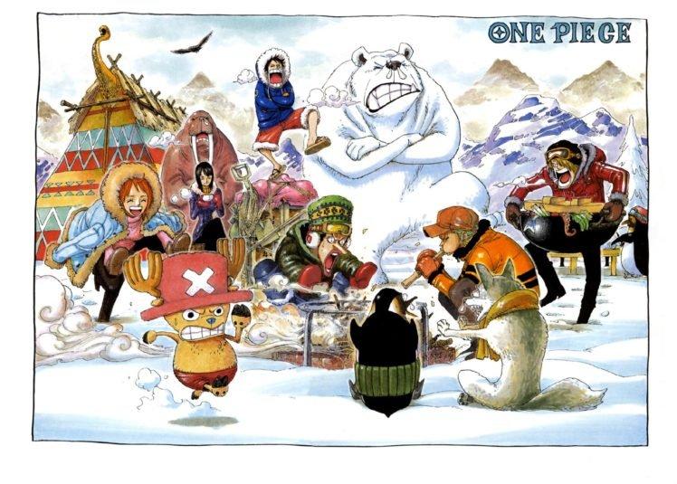 One Piece, Nami, Nico Robin, Sanji, Roronoa Zoro, Snow, Usopp, Tony Tony Chopper HD Wallpaper Desktop Background