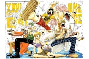 One Piece, Monkey D. Luffy, Sanji, Nami, Roronoa Zoro, Usopp