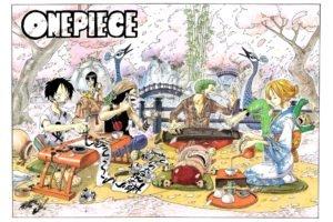 One Piece, Kimono, Usopp, Roronoa Zoro, Monkey D. Luffy, Nico Robin, Sanji