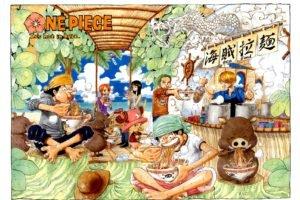 One Piece, Monkey D. Luffy, Roronoa Zoro, Usopp, Nami, Nico Robin, Ramen, Sanji, Tony Tony Chopper