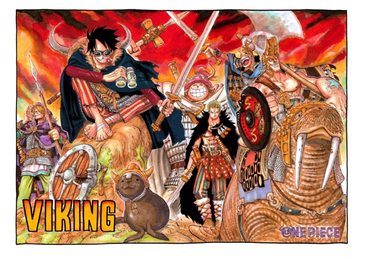 One Piece, Monkey D. Luffy, Sanji, Roronoa Zoro, Tony Tony Chopper, Usopp, Vikings, Sword HD Wallpaper Desktop Background