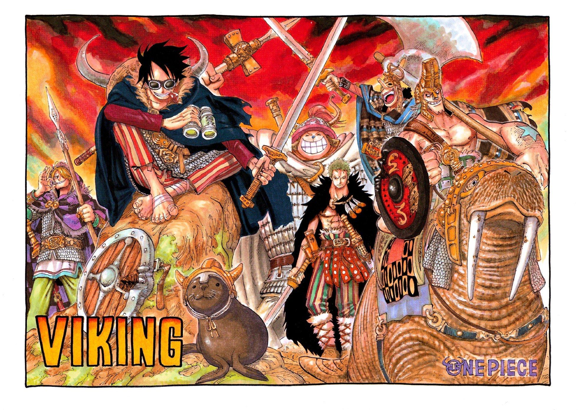 One Piece, Monkey D. Luffy, Sanji, Roronoa Zoro, Tony Tony Chopper, Usopp, Vikings, Sword Wallpaper