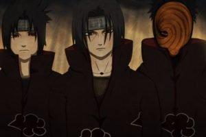 Uchiha Itachi, Uchiha Sasuke, Akatsuki, Tobi, Naruto Shippuuden, Uchiha Obito