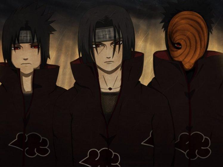 Uchiha Itachi Uchiha Sasuke Akatsuki Tobi Naruto