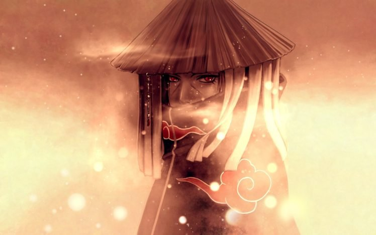 Red Eyes Akatsuki Snow Uchiha Itachi HD Wallpaper Desktop Background