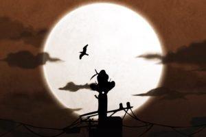 Uchiha Itachi, Silhouette, Moon