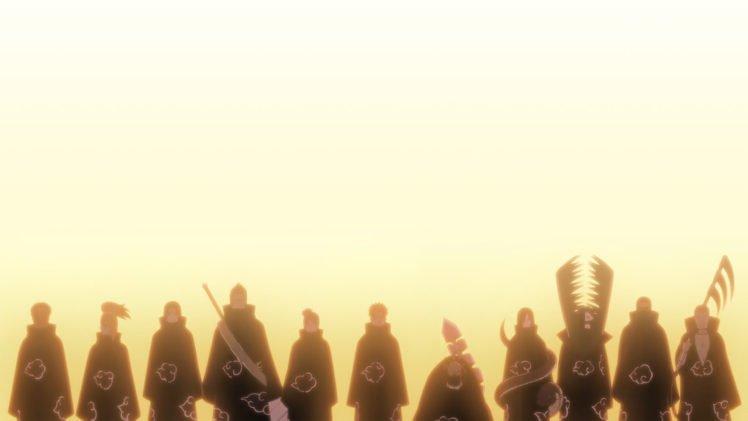 Akatsuki, Silhouette, Zetsu, Sunlight, Deidara, Sasori, Hoshigaki Kisame, Hidan, Kakuzu, Konan, Pein, Uchiha Itachi, Tobi, Orochimaru HD Wallpaper Desktop Background