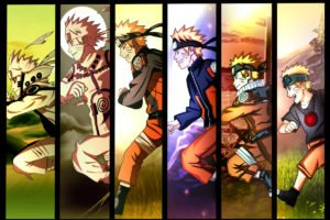 Uzumaki Naruto, Time, Anime boys, Evolution, Running, Panels