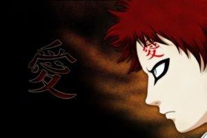 Gaara, Tattoo, Redhead, Kanji, Naruto Shippuuden