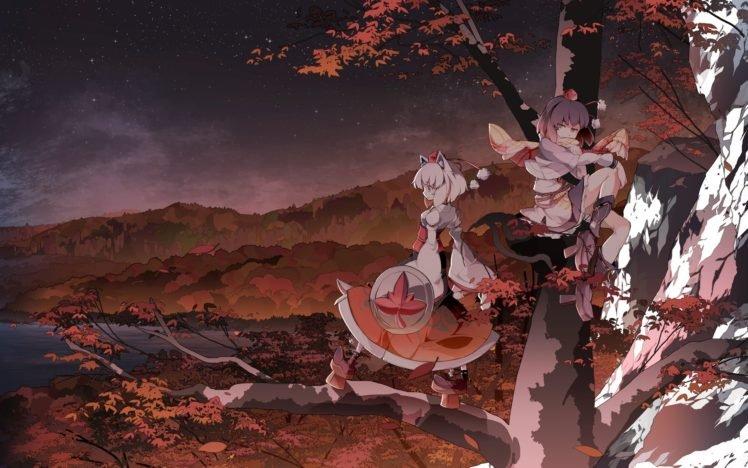 Touhou, Inubashiri Momiji, Shameimaru Aya HD Wallpaper Desktop Background